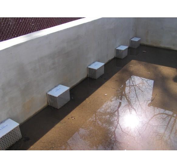 Derrame de los aguas pluviales para caudales de 5 a 18