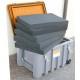 Caja Almacenamiento PEHD de color gris 150 litros