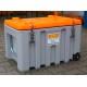Caja Almacenamiento PEHD de color gris 400 litros