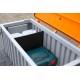 Caja Almacenamiento PEHD de color gris 750 litros