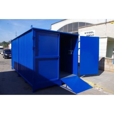 Contenedor de almacenamiento transitable 2x2