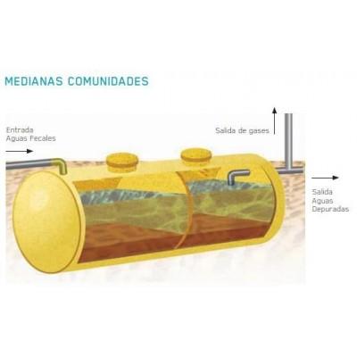 Fosa Séptica de 6.000 litros para 30 habitantes equivalentes