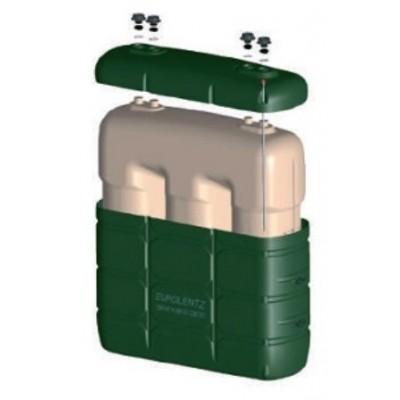 Depósito com bacia de plástico incorporada 1000 litros