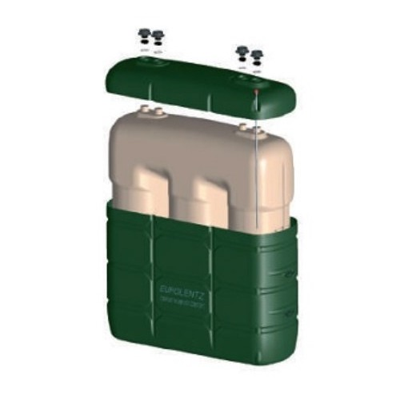 Depósito con cubeto plástico incorporado 2000 litros
