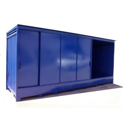 Contenedor de almacenamiento transitable 6x2