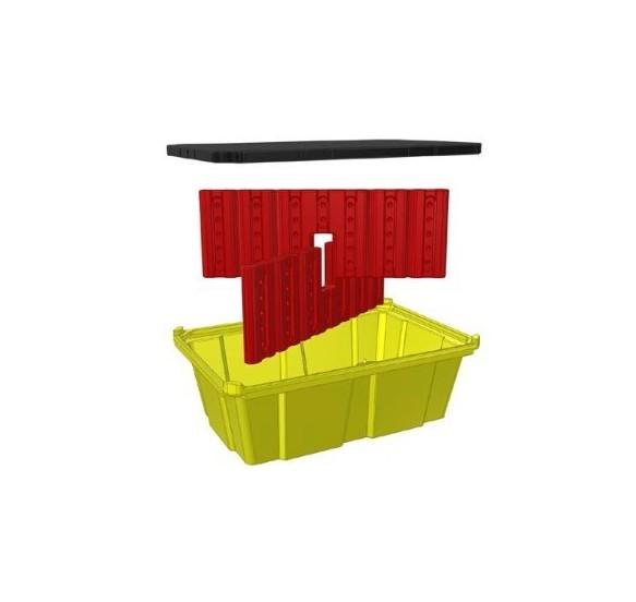Cubeto de retención 230 L - Apilable