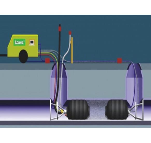 Obturador neumático con By-pass 500-800 mm