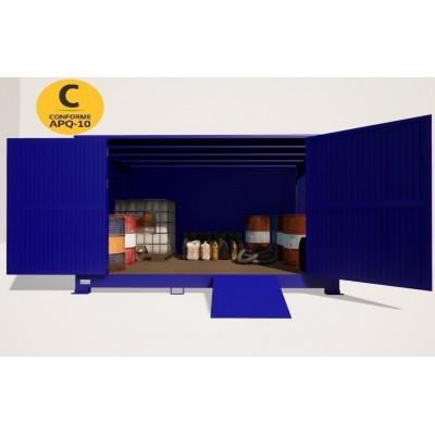 Contenedor de almacenamiento transitable 4x2