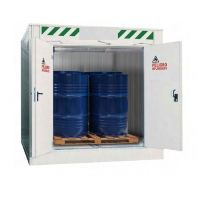 Almacén modular ignífugo para pequeños recipientes