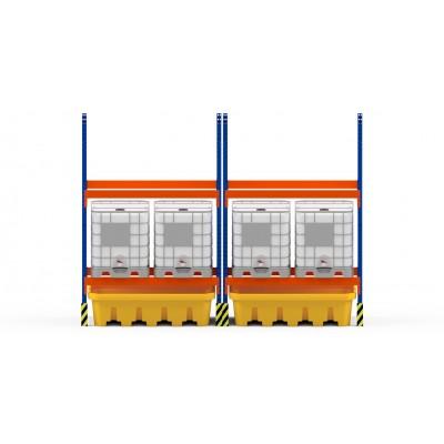 Cubeto de polietileno para estanterias