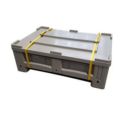 Caixa Armazenamento PEHD, cor cinza. 150 litros