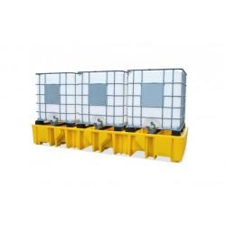 Cubeto de polietileno para 2 GRG's de 1.000 litros sin rejilla