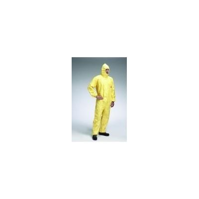 Traje Tychem® C - Amarillo. Con capucha. Antiestático en cara interior. CEE/89/686 Cat. III Tipo 3, 4, 5 y 6