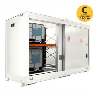 Almacén modular ignífugo con 2 niveles para 8 GRGs