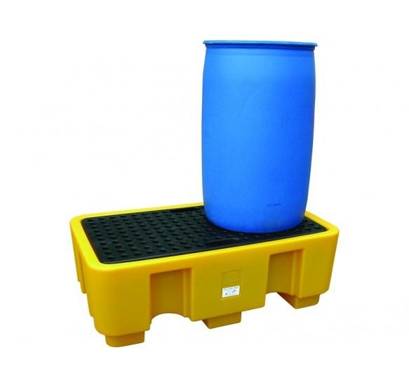 Cubeto de retención en polietileno para 2 bidones de 220 litros