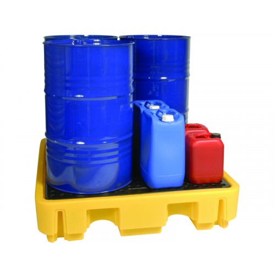 Cubeto de polietileno para 4 bidones de 220 litros
