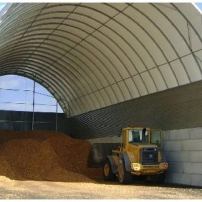Túnel de 10x20x5m de alto sobre murete de hormigón