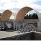 Túnel de 10x30x5m de alto sobre murete de hormigón