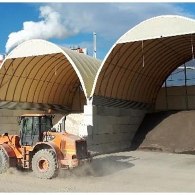 Túnel de 12x40x6,45m de alto sobre suelo de hormigón