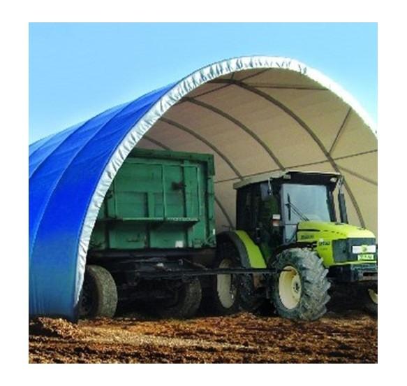Túnel de 8x21x3,6m de alto sobre suelo tierra