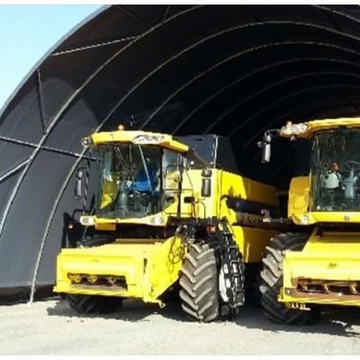 Túnel de 12x12x6,45m de alto sobre suelo de tierra
