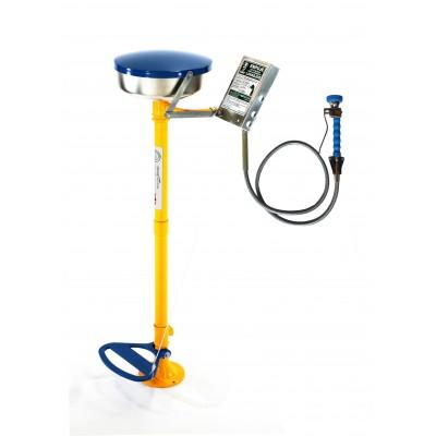 Lavaojos de pedestal Accionamiento manual con tapa y pedal y