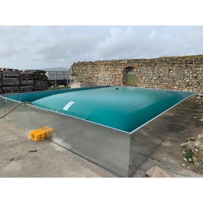 Cisterna para efluentes de granja color gris de 5 a 1.000m3