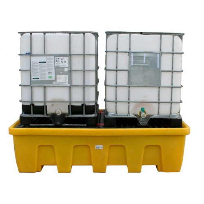 Cubeto de retención en polietileno para 2 GRG's de 1.200 litros