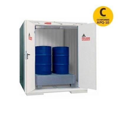 Contenedor modular REI120 para bidones de 200 litros