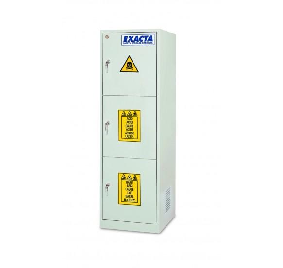 Armario para ácidos y bases COMBICHEM ECO6 3 puertas