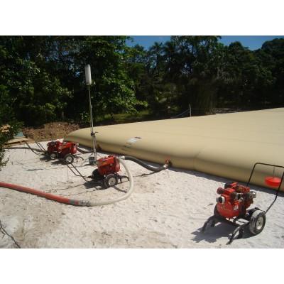 Cisterna agua potable color crema o verde de 400m3 con equipos estándares (ver catálogo)