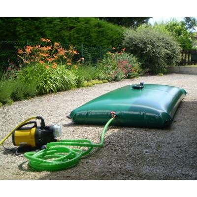 Cisterna recuperación agua de lluvia color crema o verde de 15m3 con equipos estándar (ver catálog