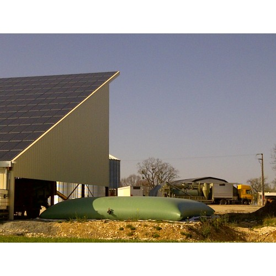 Cisterna recuperación agua de lluvia color crema o verde de 50m3