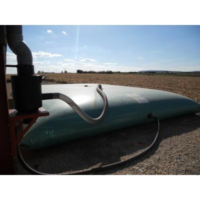 Cisterna recuperación agua de lluvia color amarillo o verde de