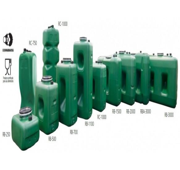 Depósito para almacenamiento de agua potable de 750 litros