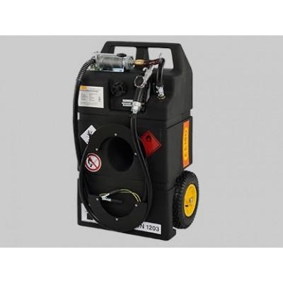 Surtidor Móvil para Gasolina tipo Carro con bomba manual 25l/min y surtidor. 95 litros