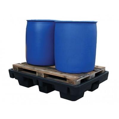 Bacs de rétention en Polyéthylène pour 2 fûts de 220 litres sans caillebotis