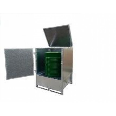 Caseta de almacenamiento de acero para 1 bidon
