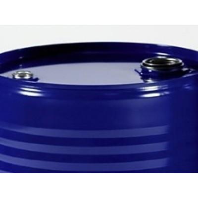 Bidón metálico de 200 L reutilizado, con tapa de dos orificios para residuos líquidos. Homologado ADR