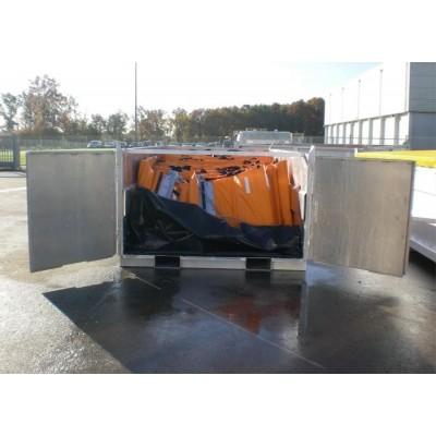 Rack de almacenamiento para barreras de contención