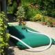 Cisterna recuperación agua de lluvia color crema o verde de 3m3 con equipos estándar (ver catálogo)