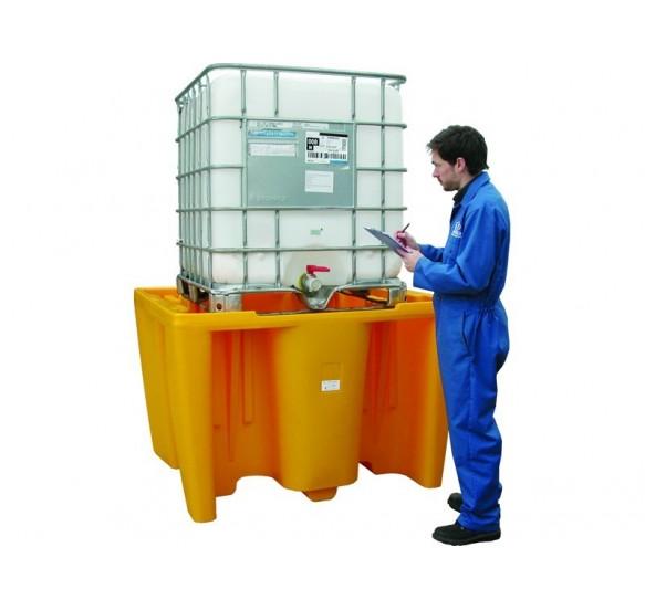 Cubeto de retención en polietileno para 1 GRG de 1.000 litros