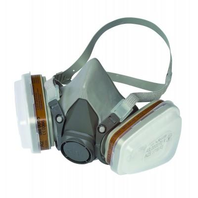 Mascárilla de doble filtro para partículas, gases y vapores