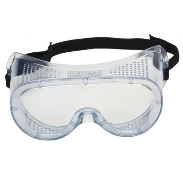 Gafas de protección panorámica, con montura de PVC translúcido y lente en poliacetato