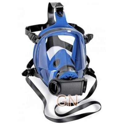 Máscara facial de doble filtro para partículas, gases y vapores
