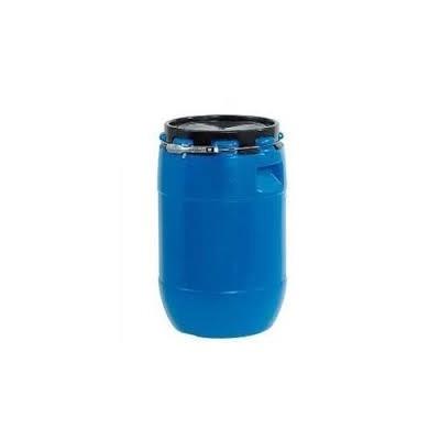 Fût métallique de 200 L reutilisable, avec couvercle et fermeture à cercle levier Homologué normes ADR