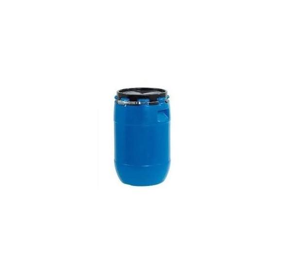 Bidones nuevos HDPE de 220l homologado UN-X, azul, tapa negra